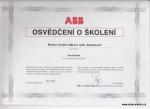 Osvědčení o školení ABB 23.9.2015