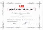 Osvědčení o školení ABB RF 868