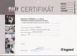 Certifikát Legrand 2015