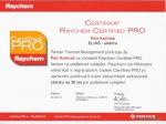 Certifikát Raychem podlahové vytápění
